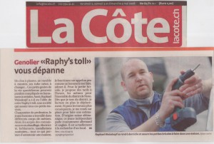 Article la Côte 2008 - Raphy's toll - 2 mai 2008