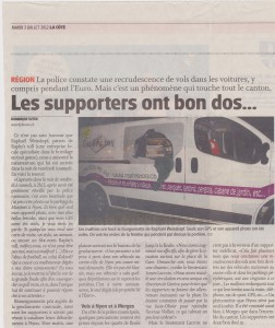 Article la Côte - Raphy's toll - 3 Juillet 2012