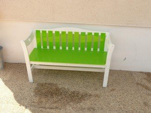 Modification banc de jardin
