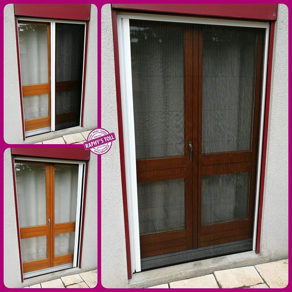 Plissé porte fenêtre blanc 1