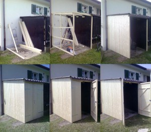 Aggrandissement cabane de jardin