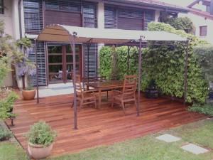 Pose terrasse de jardin en bois