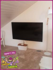 Pose TV au mur