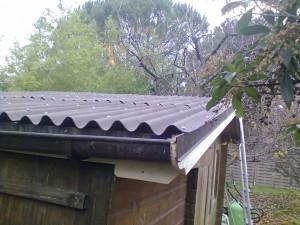 Remise en état toit de cabane - en onduline
