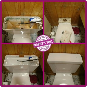 Remplacement cuve WC