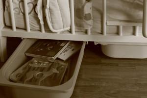 Tiroir Ikea - Ajuster sous  un lit pour enfant